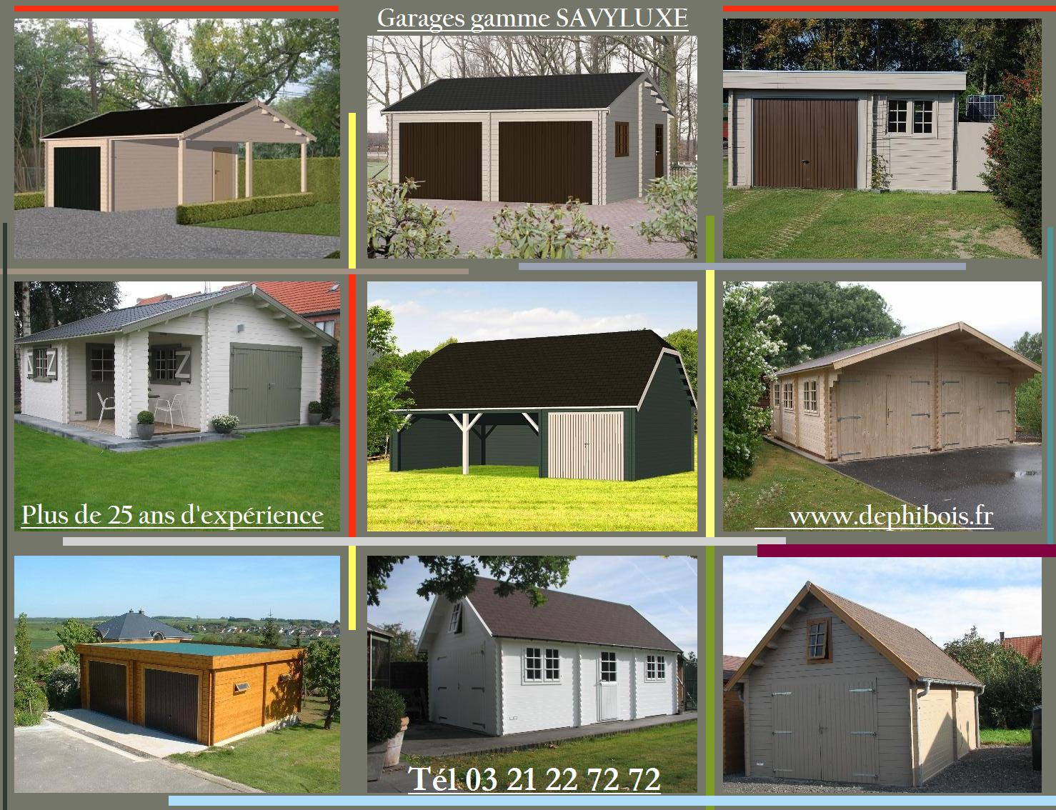 Garages de 15 100m for Fabricant garage bois en kit